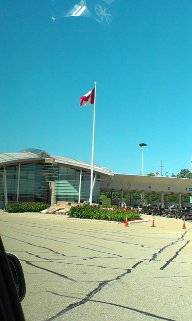 Right before entering Canada for 1st time