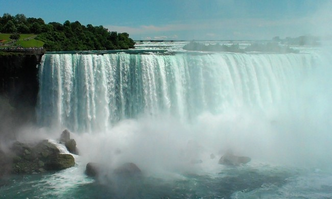 Americans get to see the falls from behind