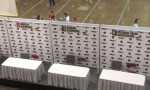 Some of the celeb booths set up for signings