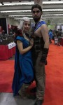 The couple that cosplays together, stays together. Daenarys Targareyn and Khal Drogo, GAME OF THRONES