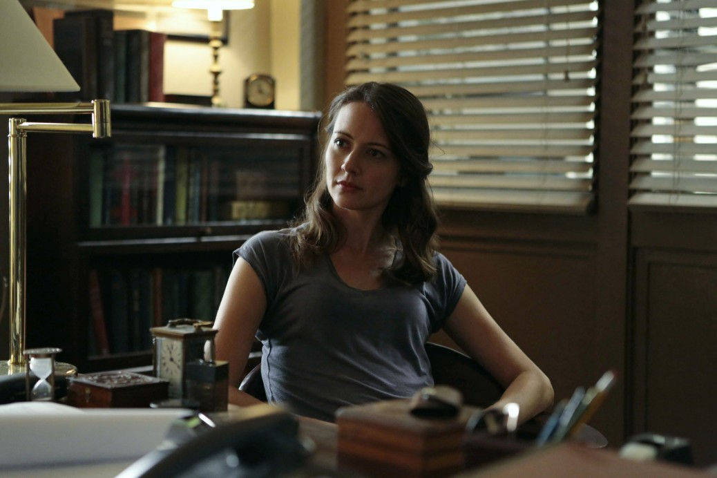 """Panopticon"" -- Forced to take on new identities created by Root (Amy Acker, pictured), the team tries to adapt to their new lives. However, some find it hard to ignore The Machine's numbers, which puts them all at risk of being detected by Samaritan, on the fourth season premiere of PERSON OF INTEREST, Tuesday, Sept. 23 (10:01-11:00 PM, ET/PT) on the CBS Television Network. Photo: Giovanni Rufino/Warner Bros. Entertainment Inc. © 2014 WBEI. All rights reserved."